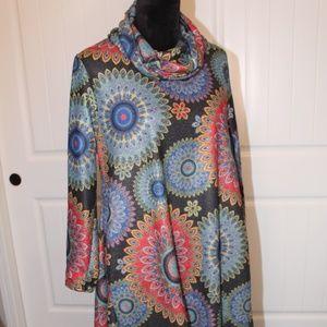 Beautiful Cowl/Scoop Neckline Full A-Line Dress